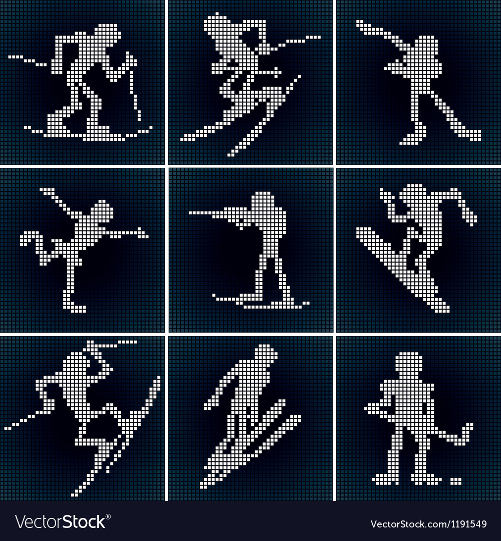 Winter sport icons set vector | Price: 1 Credit (USD $1)