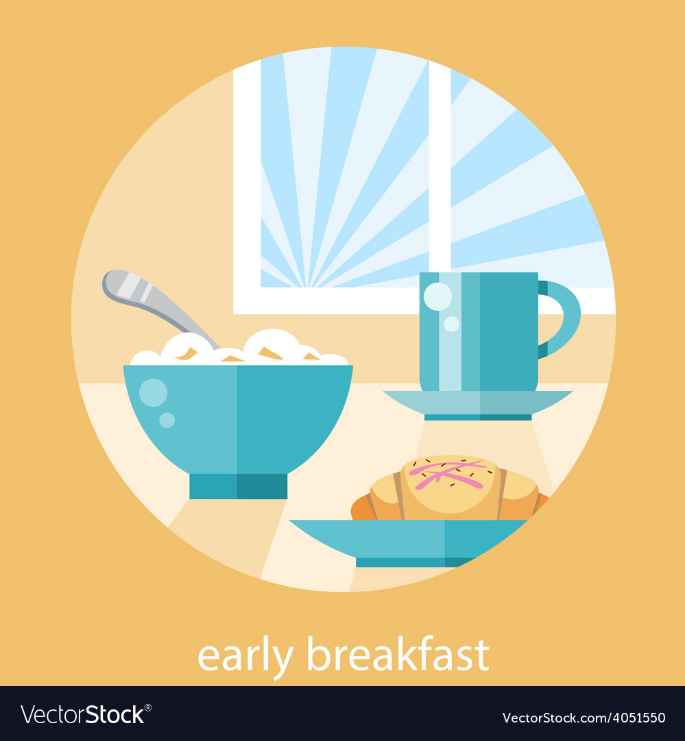 Breakfast time concept vector | Price: 1 Credit (USD $1)