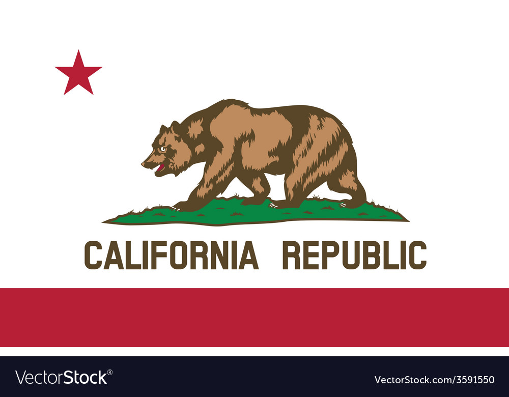 California republic flag vector | Price: 1 Credit (USD $1)