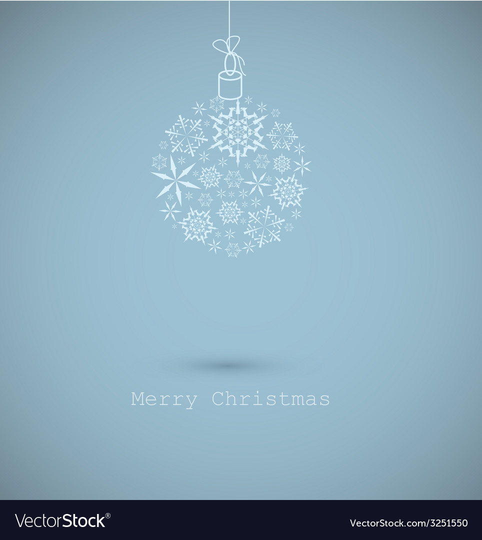 Christmas ball made from snowflakes on blue vector   Price: 1 Credit (USD $1)