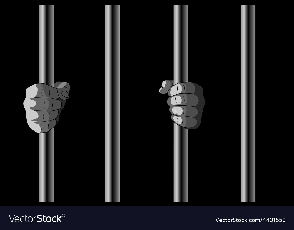 In jail vector
