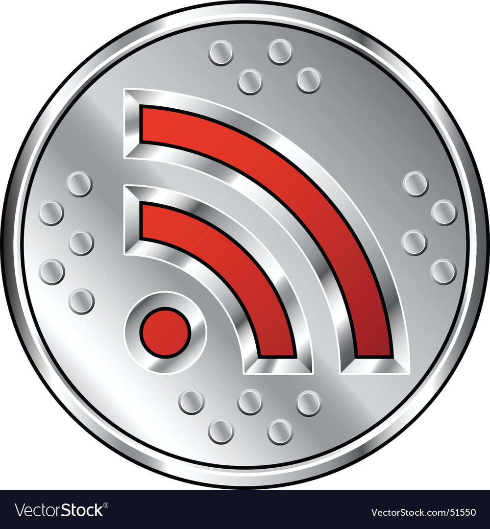 Industrial rss feed icon vector | Price: 1 Credit (USD $1)