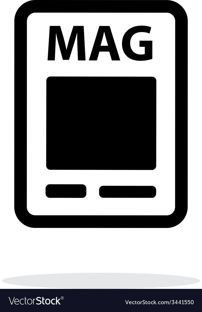 Magazine icon on white background vector | Price: 1 Credit (USD $1)