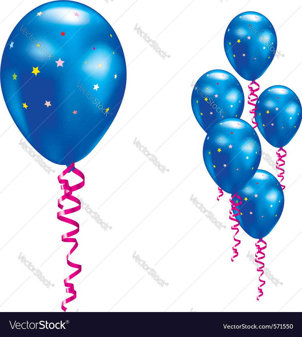 Navy party balloon vector | Price: 1 Credit (USD $1)