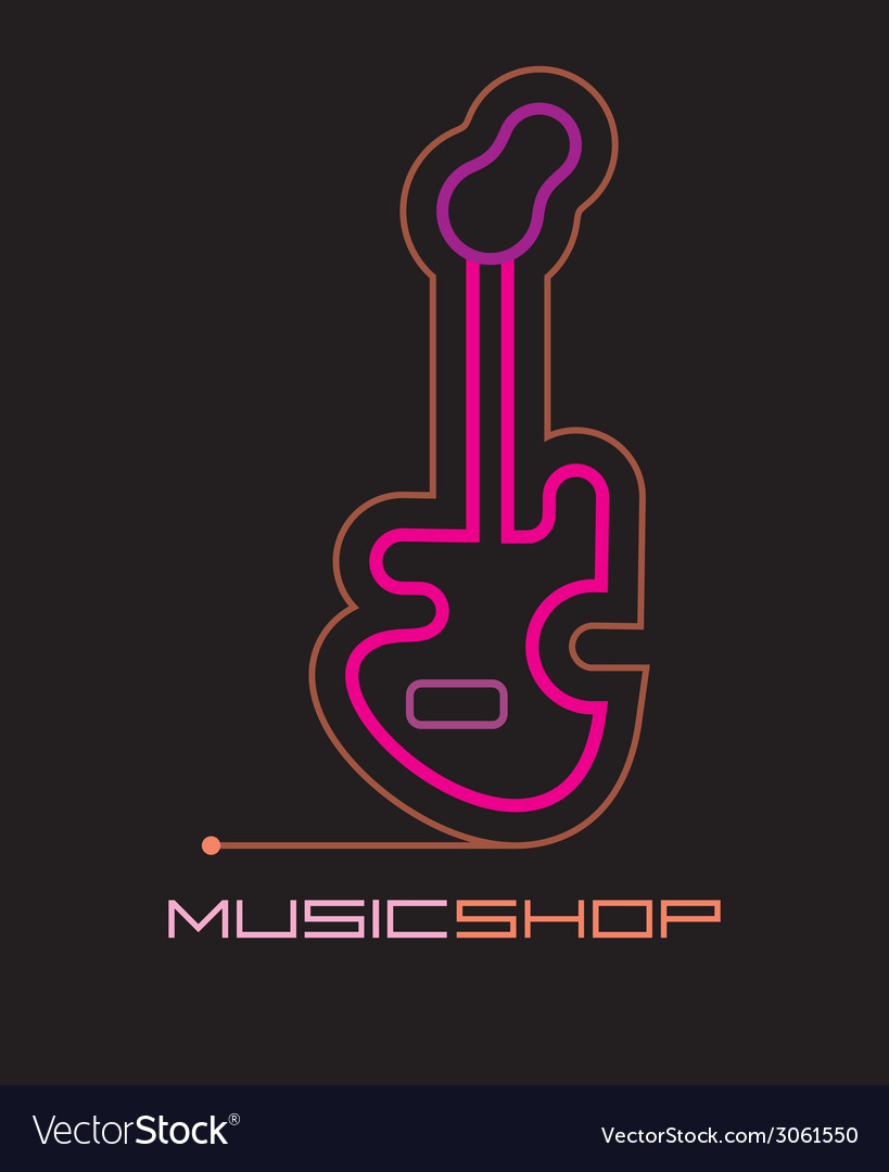 Neon music shop vector | Price: 1 Credit (USD $1)