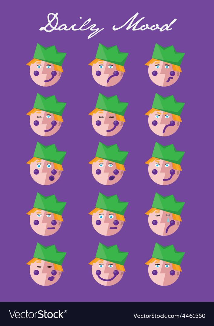 Prince mitas daily mood vector | Price: 1 Credit (USD $1)