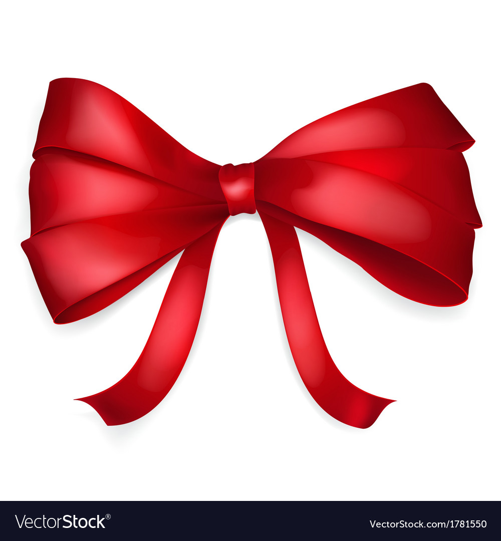 Red bow vector | Price: 1 Credit (USD $1)