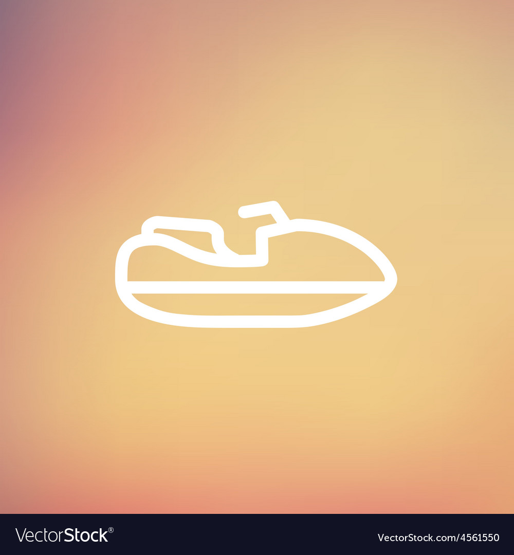 Speed boat thin line icon vector | Price: 1 Credit (USD $1)
