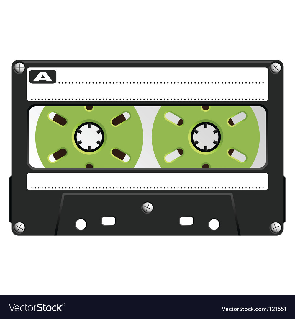 Audio cassette black transparent vector | Price: 1 Credit (USD $1)