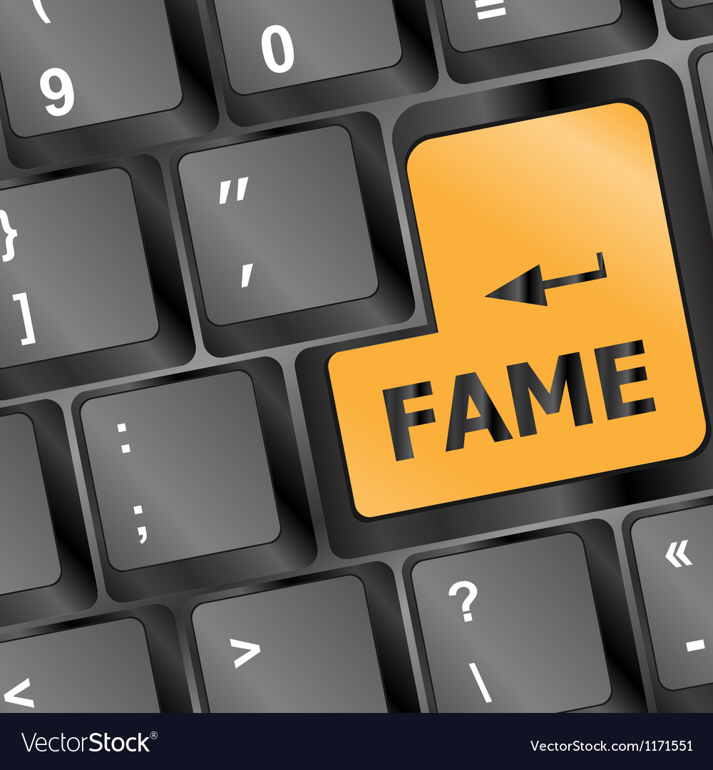 Computer keyboard with fame key vector | Price: 1 Credit (USD $1)