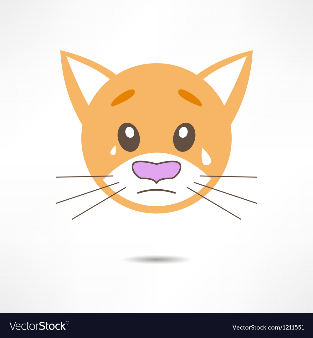 Crying cat vector | Price: 1 Credit (USD $1)