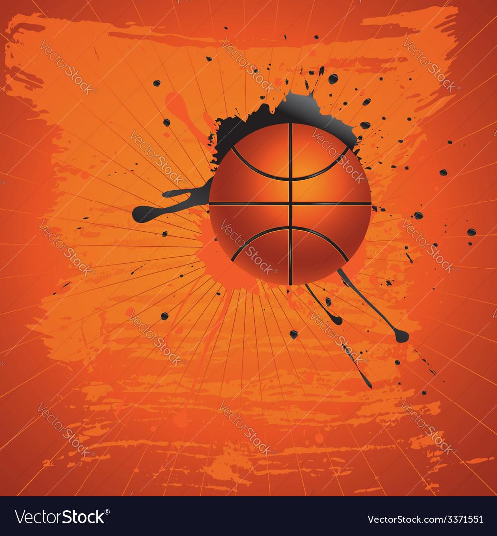 Grunge basketball vector | Price: 1 Credit (USD $1)