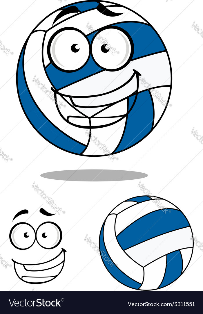 Happy cartoon volley ball vector | Price: 1 Credit (USD $1)