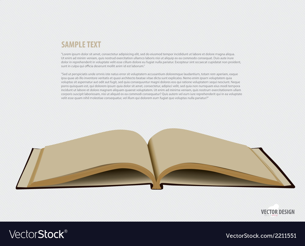 Opened book with blank pages vector | Price: 1 Credit (USD $1)