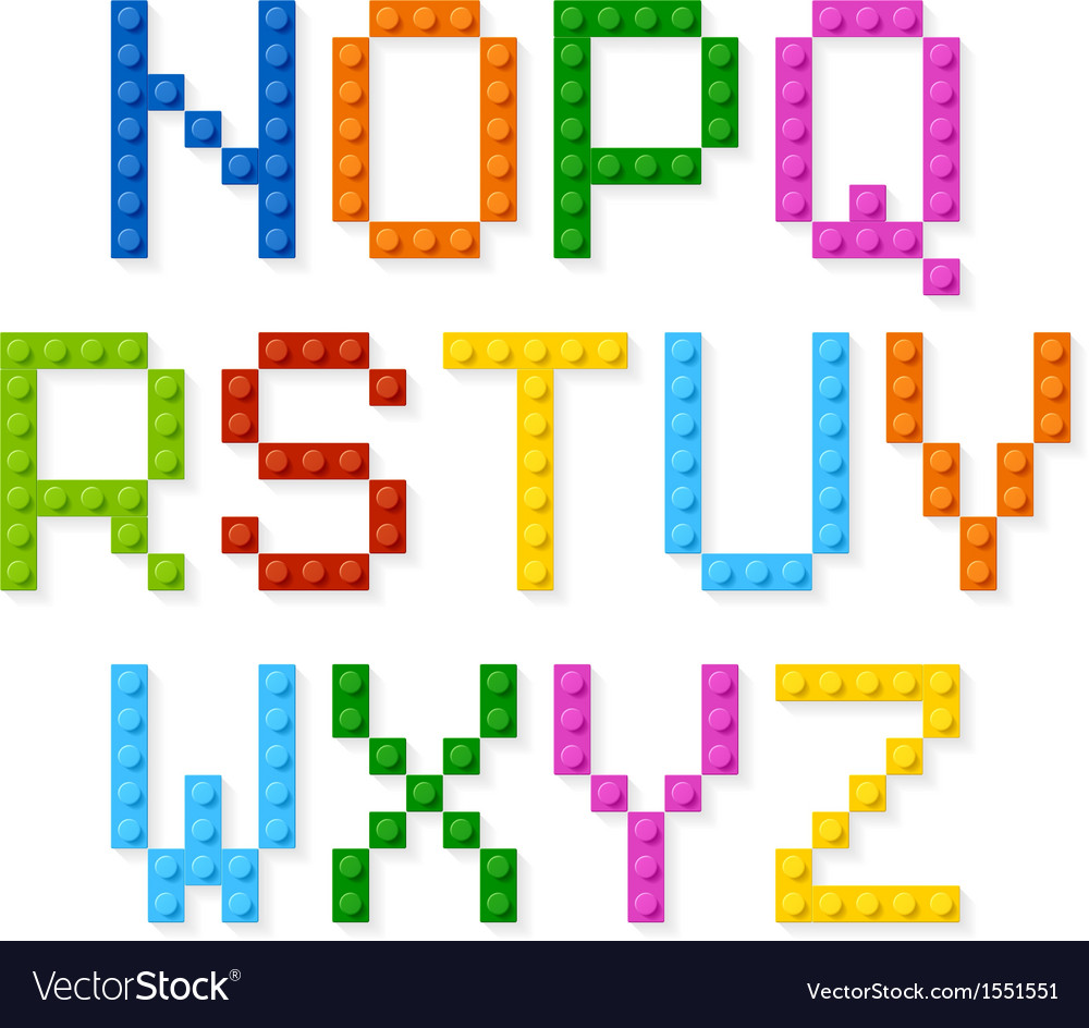 Plastic construction blocks alphabet vector | Price: 1 Credit (USD $1)