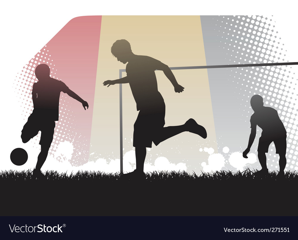 Playing soccer vector | Price: 1 Credit (USD $1)