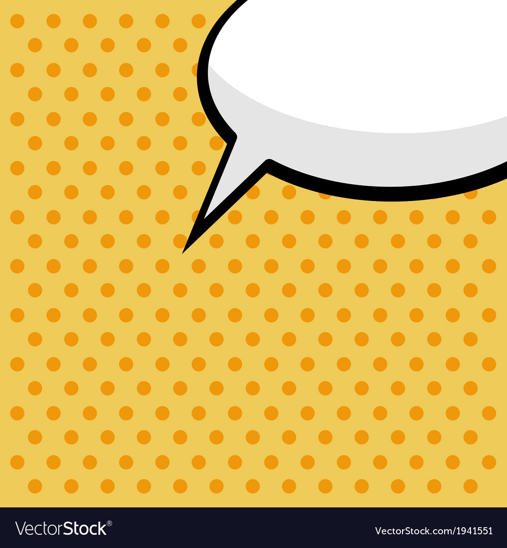 Pop art comic speech bubble vector | Price: 1 Credit (USD $1)