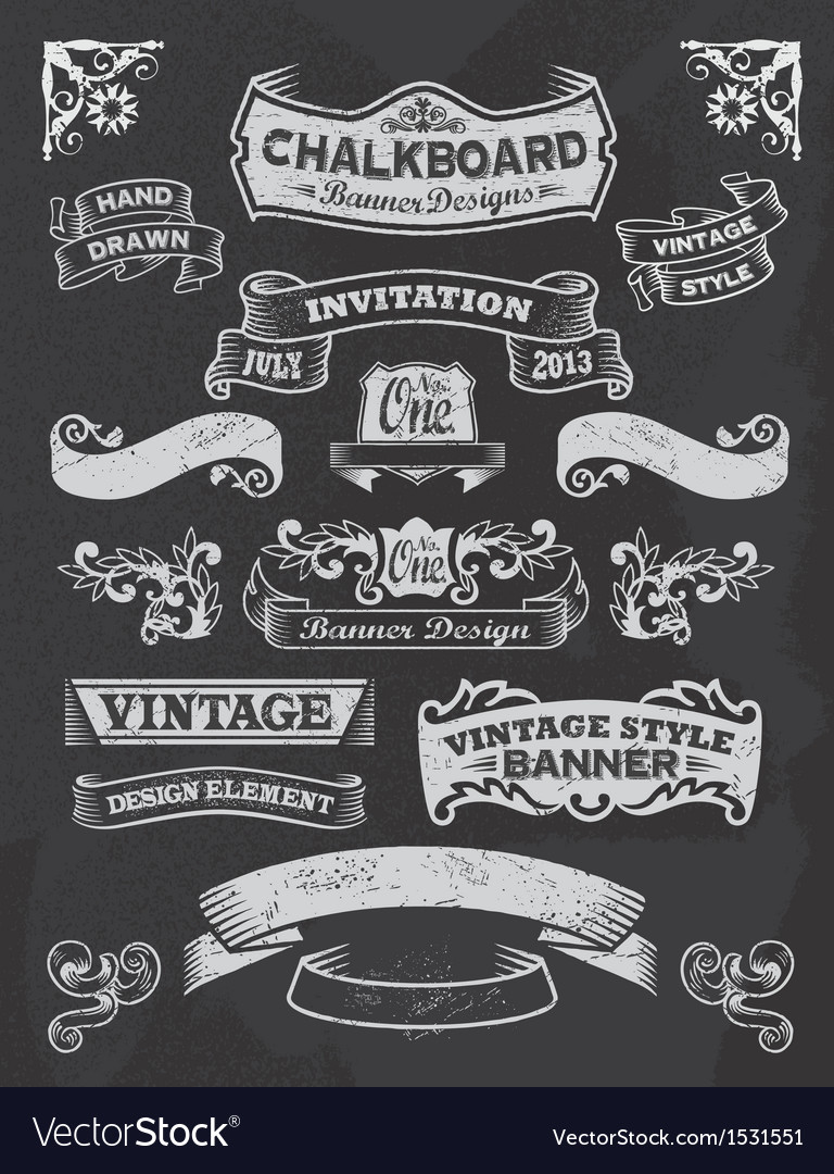 Retro vintage banners and ribbons vector | Price: 3 Credit (USD $3)