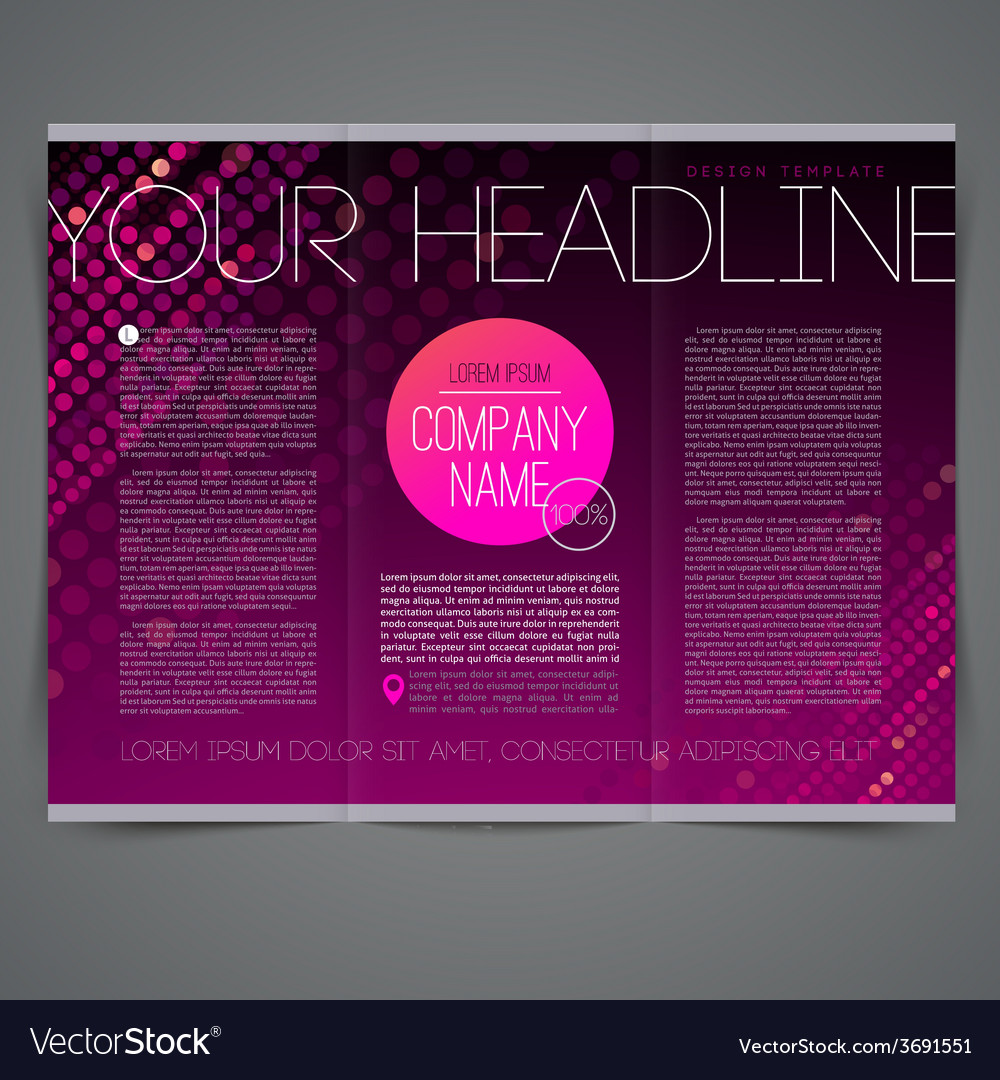 Template abstract leaflet page design vector | Price: 1 Credit (USD $1)