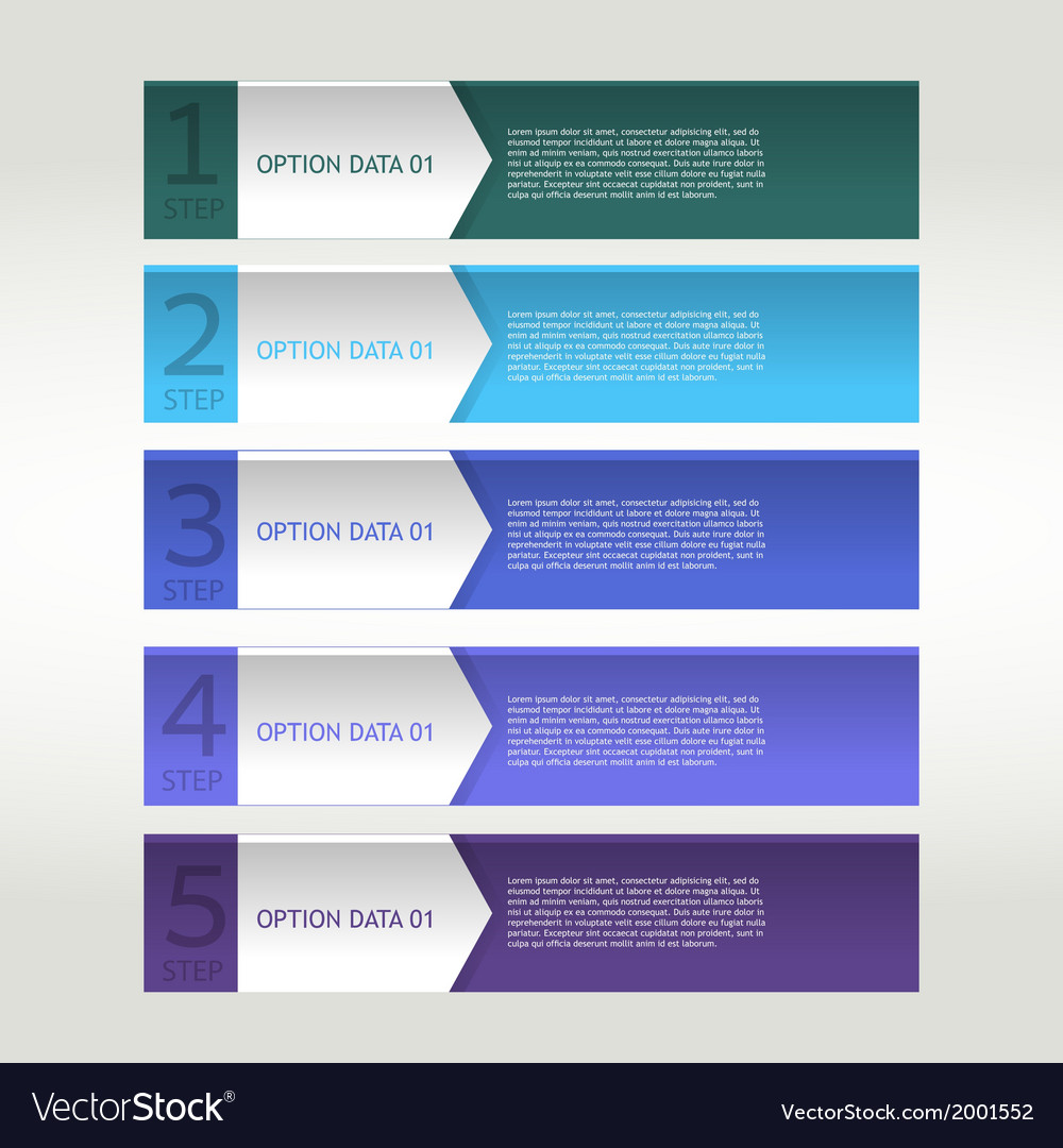 Colorful banner ribbon element for infographic vector | Price: 1 Credit (USD $1)