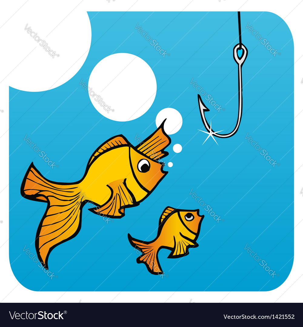 Fathers fish lesson vector | Price: 1 Credit (USD $1)