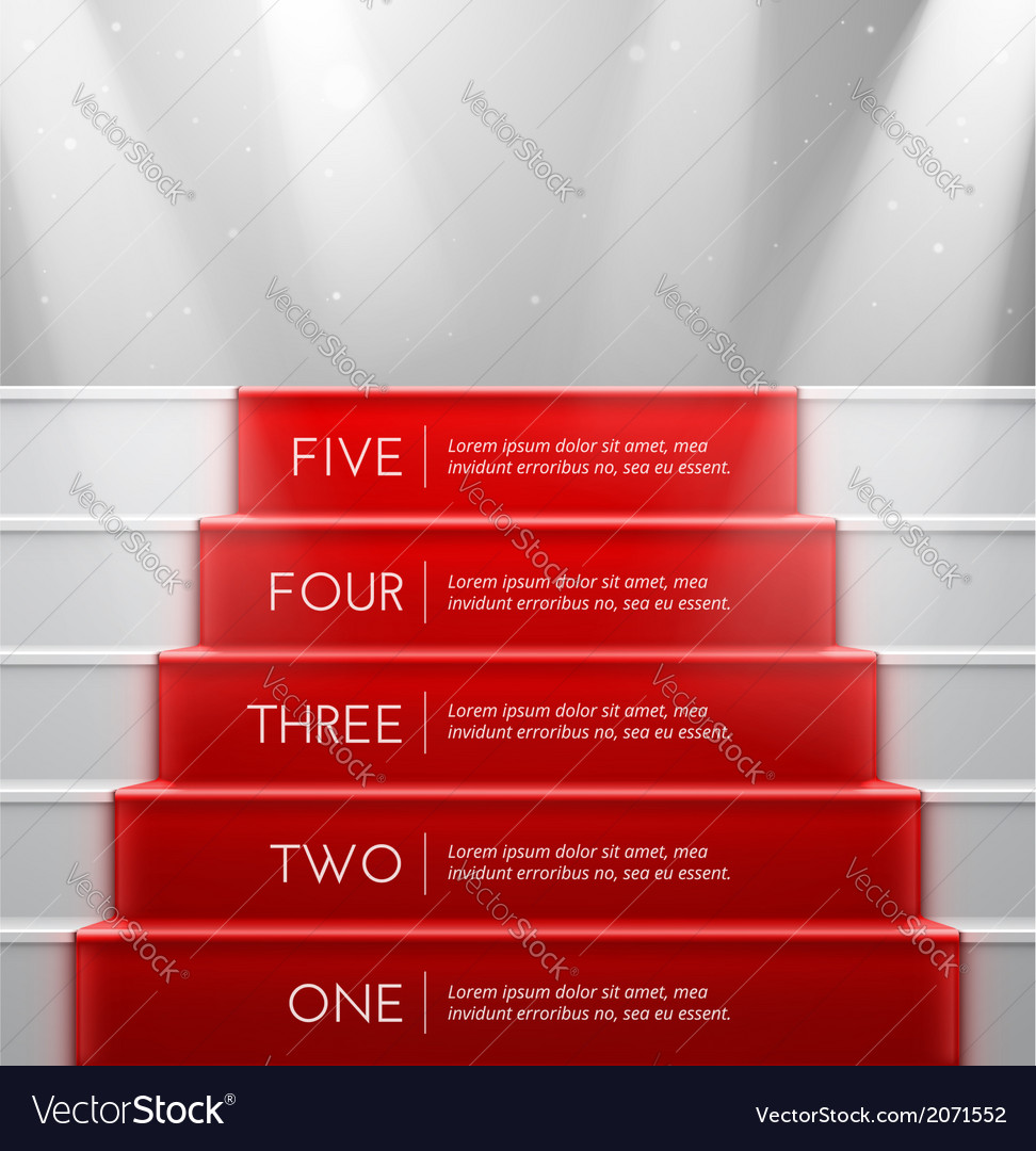 Five steps vector | Price: 1 Credit (USD $1)