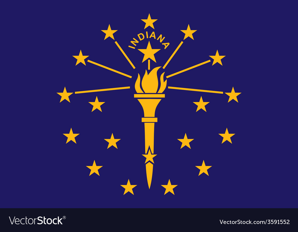 Indiana flag vector | Price: 1 Credit (USD $1)