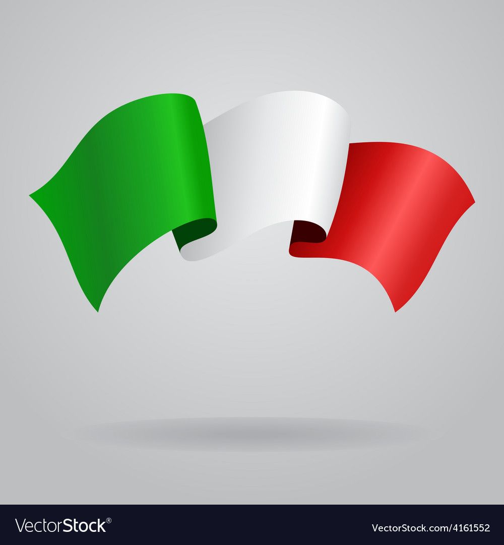Italian waving flag vector | Price: 3 Credit (USD $3)