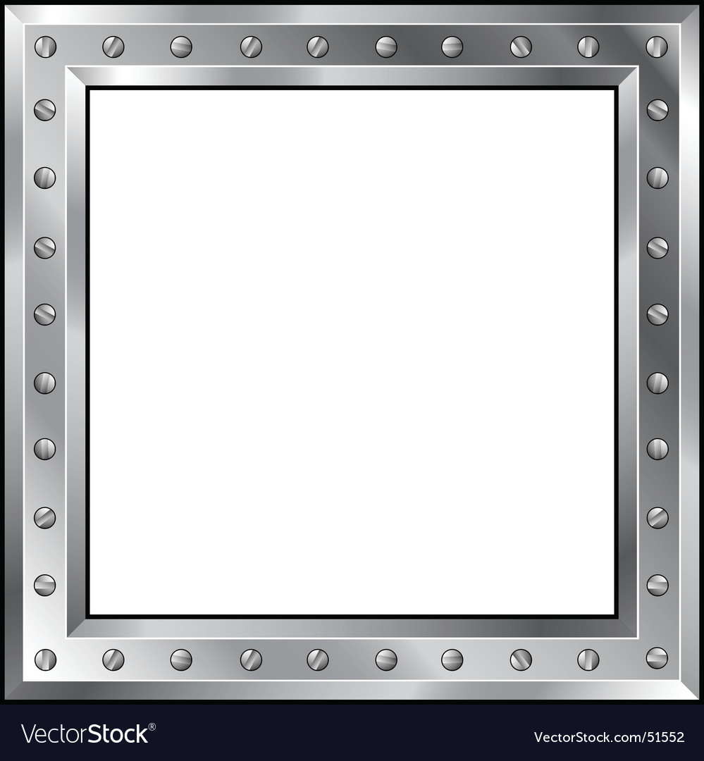 Metal frame with bolts vector