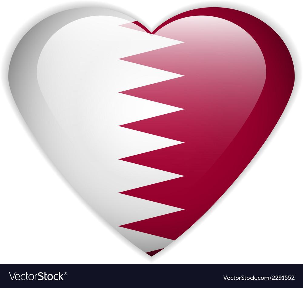 Qatar flag button vector | Price: 1 Credit (USD $1)