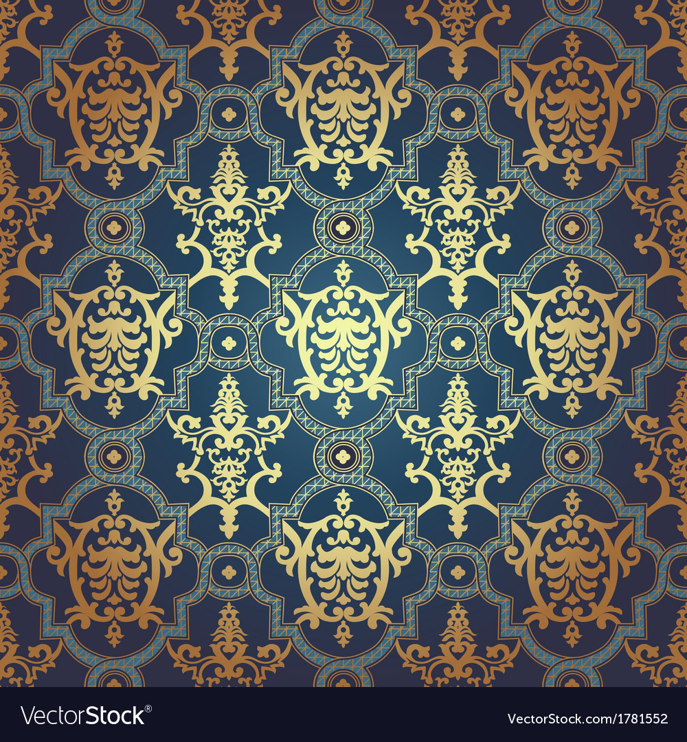 Seamless pattern in mosaic ethnic style vector   Price: 1 Credit (USD $1)
