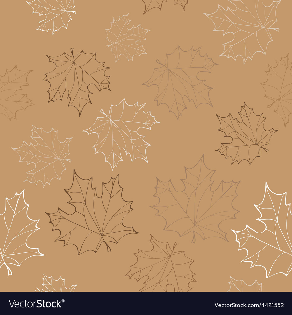 Seamless with autumn leaves - vector | Price: 1 Credit (USD $1)