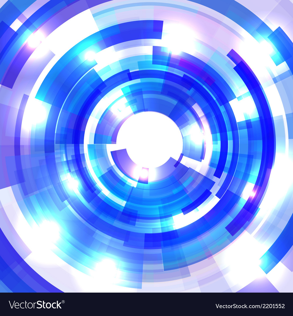 Shining blue circle tunnel vector | Price: 1 Credit (USD $1)