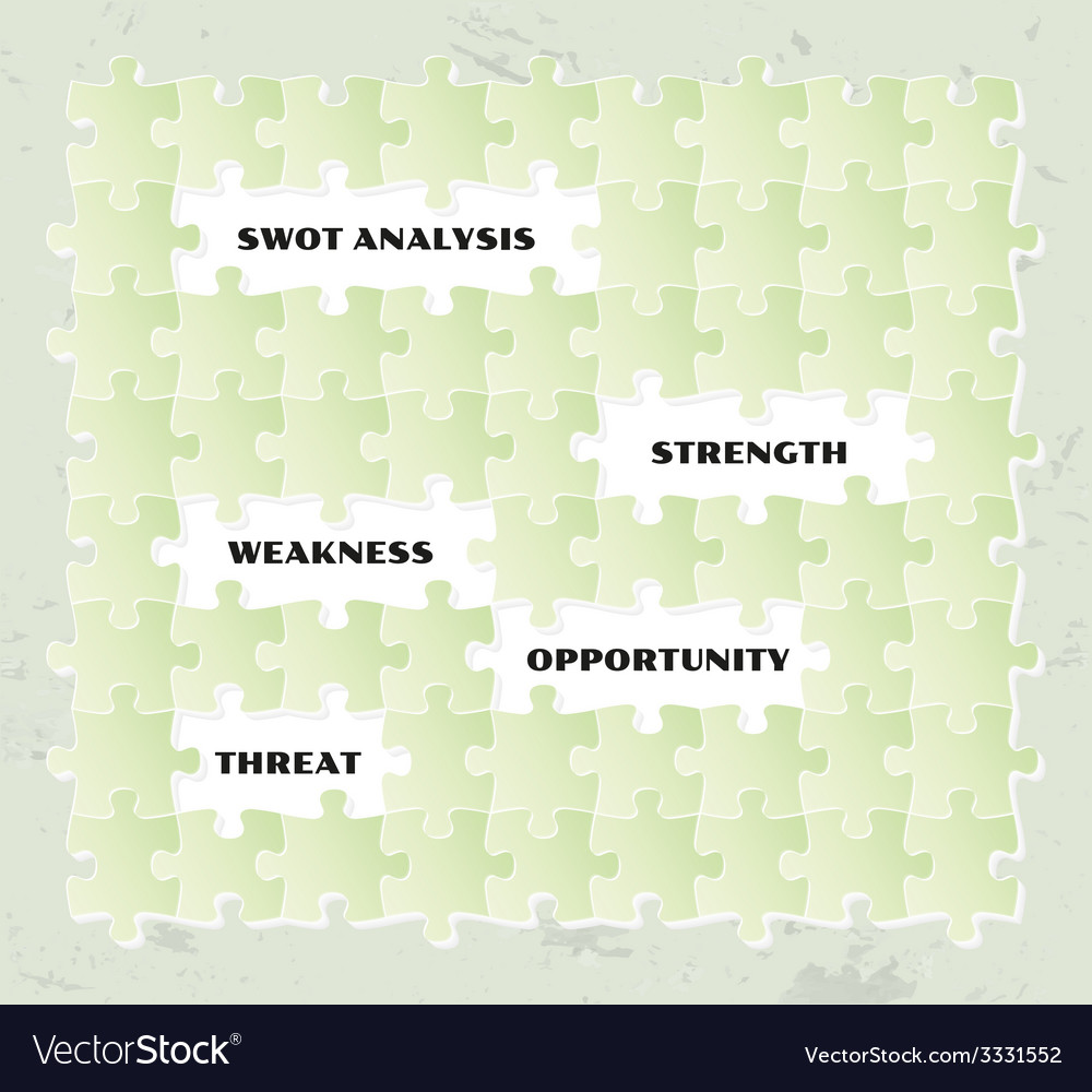 Swot analysis puzzle vector | Price: 1 Credit (USD $1)