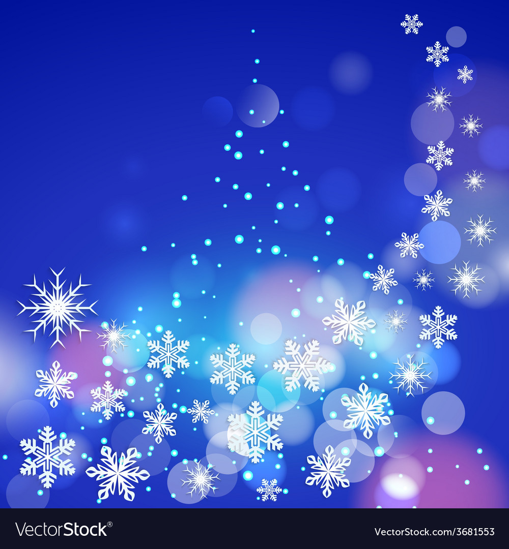 Abstract winter blue background with snowflakes vector   Price: 1 Credit (USD $1)