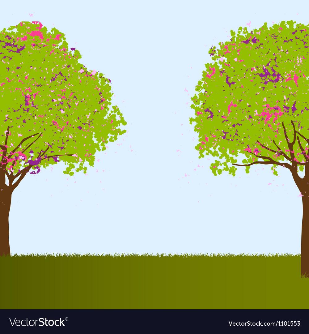Beautiful trees vector | Price: 1 Credit (USD $1)
