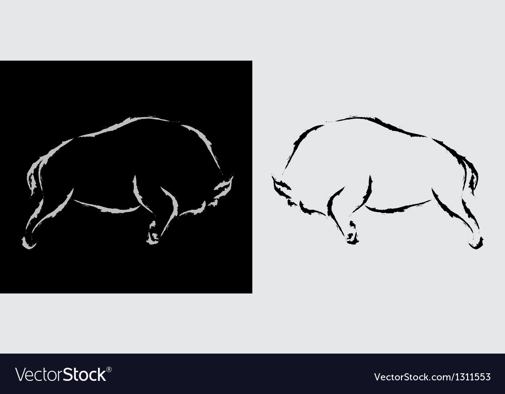 Bison vector | Price: 1 Credit (USD $1)