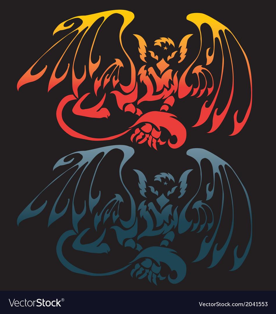 Black heraldic griffin vector | Price: 1 Credit (USD $1)