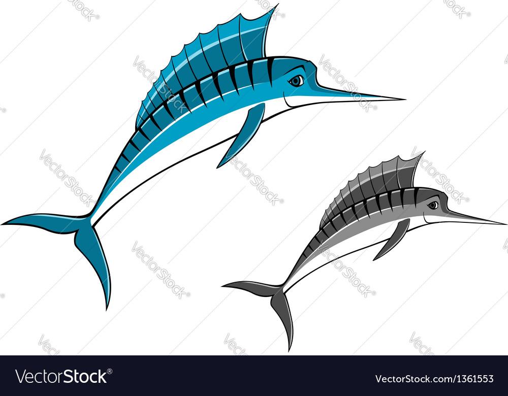 Blue marlin fish vector | Price: 1 Credit (USD $1)