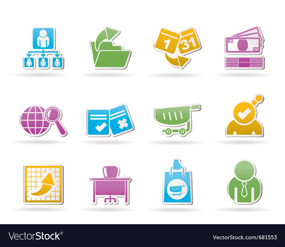 Business and management icons vector | Price: 1 Credit (USD $1)