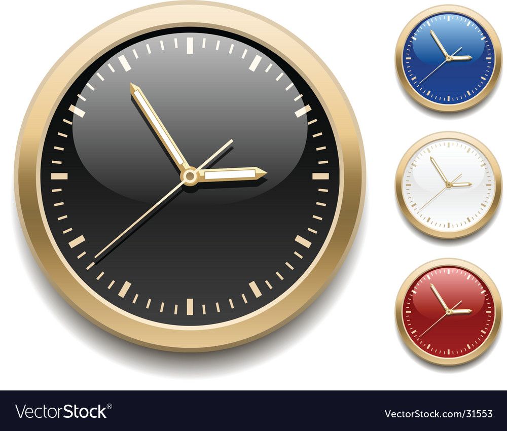 Clock icons vector | Price: 1 Credit (USD $1)