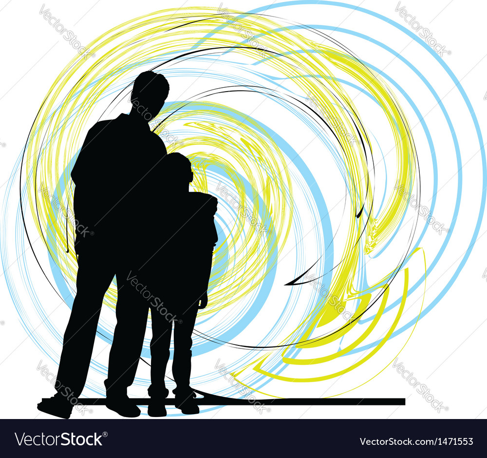 Dad and son vector | Price: 1 Credit (USD $1)