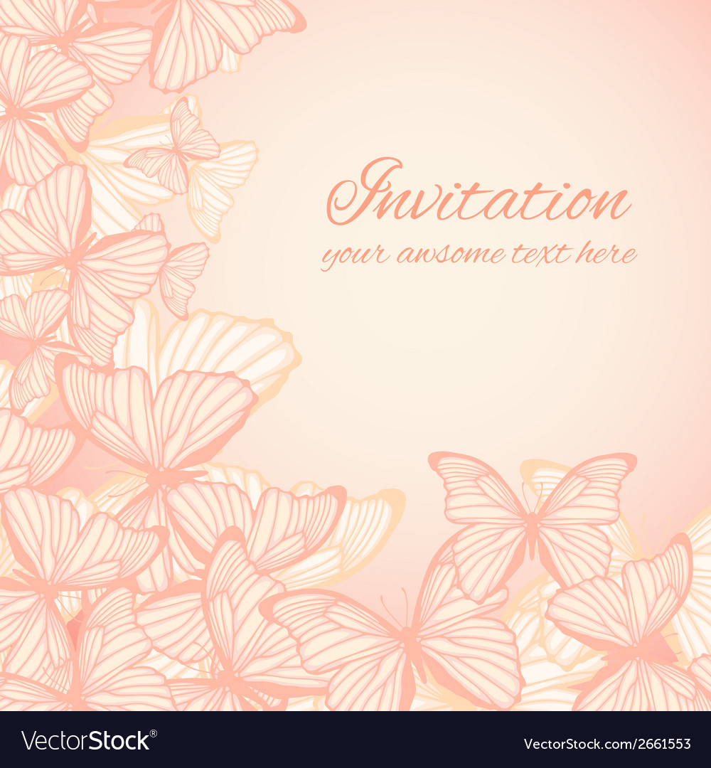 Invitation card template with hand drawn vector | Price: 1 Credit (USD $1)