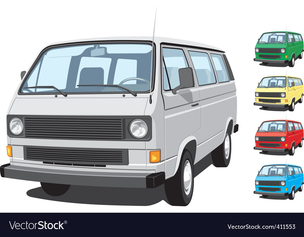 Mini van vector | Price: 3 Credit (USD $3)