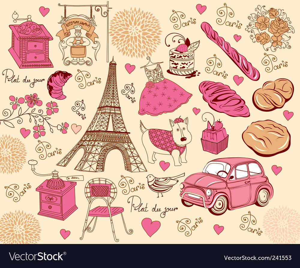 Paris design elements vector | Price: 1 Credit (USD $1)