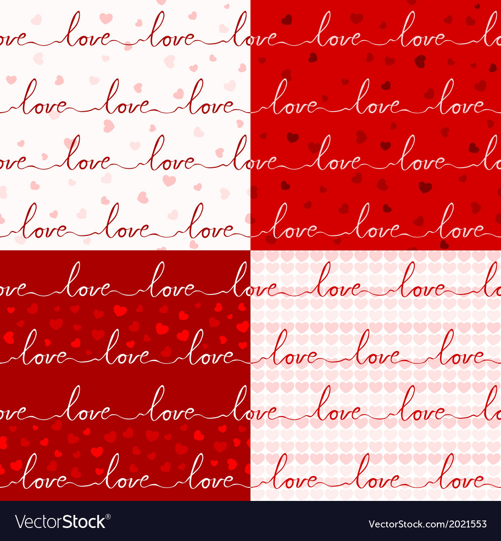 Various love pattern vector | Price: 1 Credit (USD $1)
