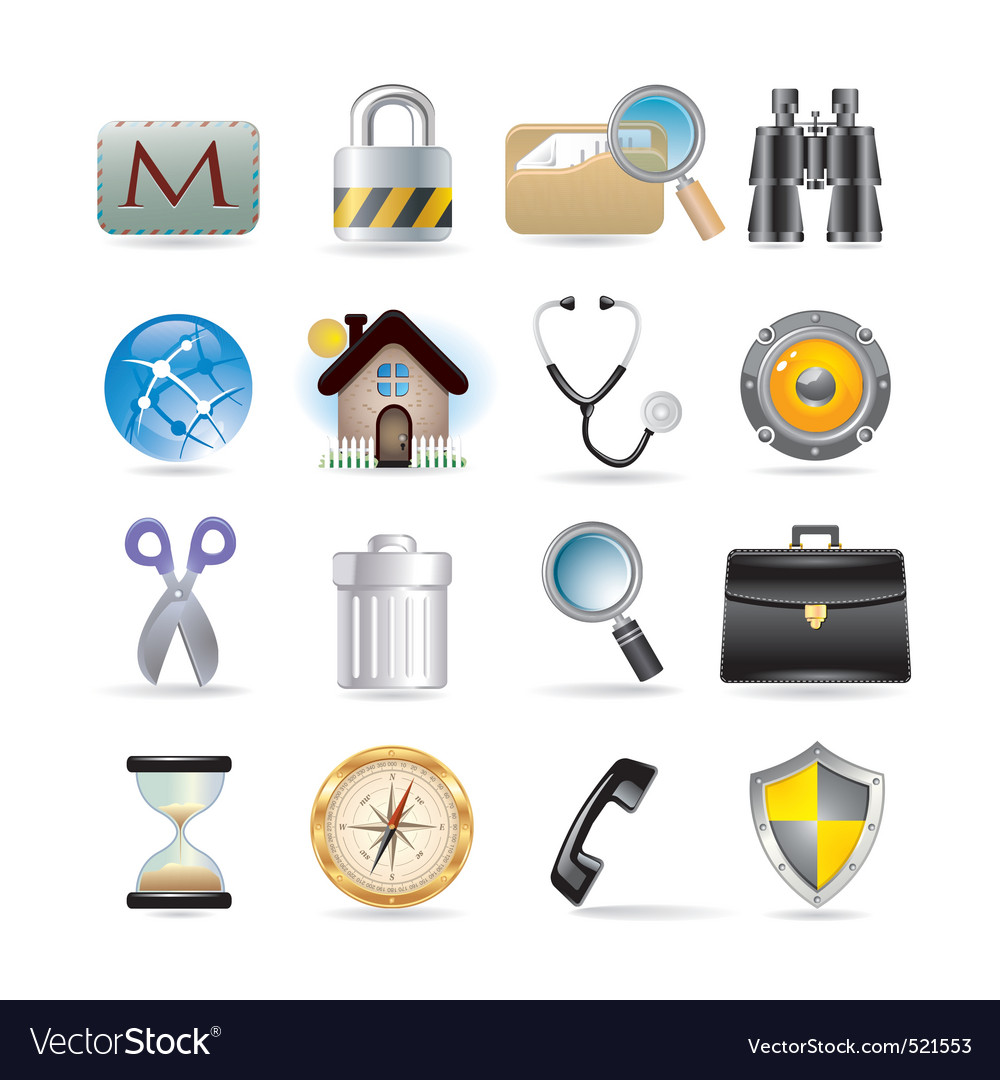 Web icons set vector | Price: 3 Credit (USD $3)