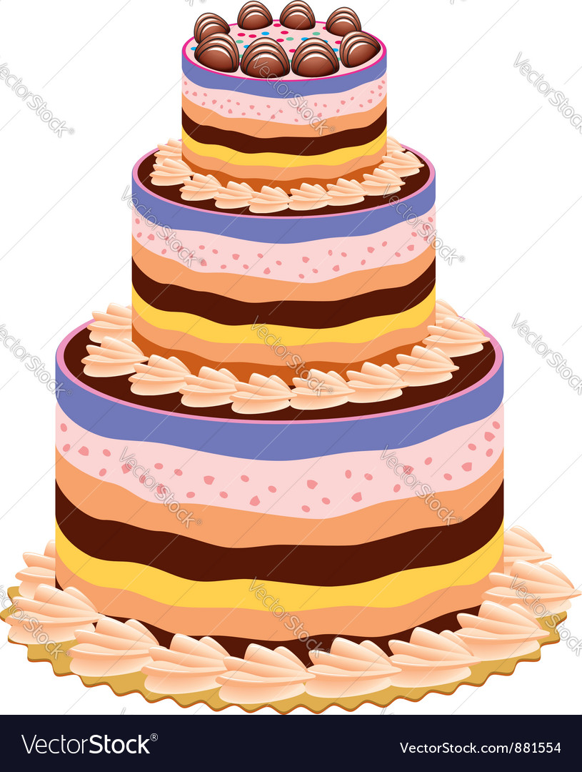 Big cake vector | Price: 1 Credit (USD $1)