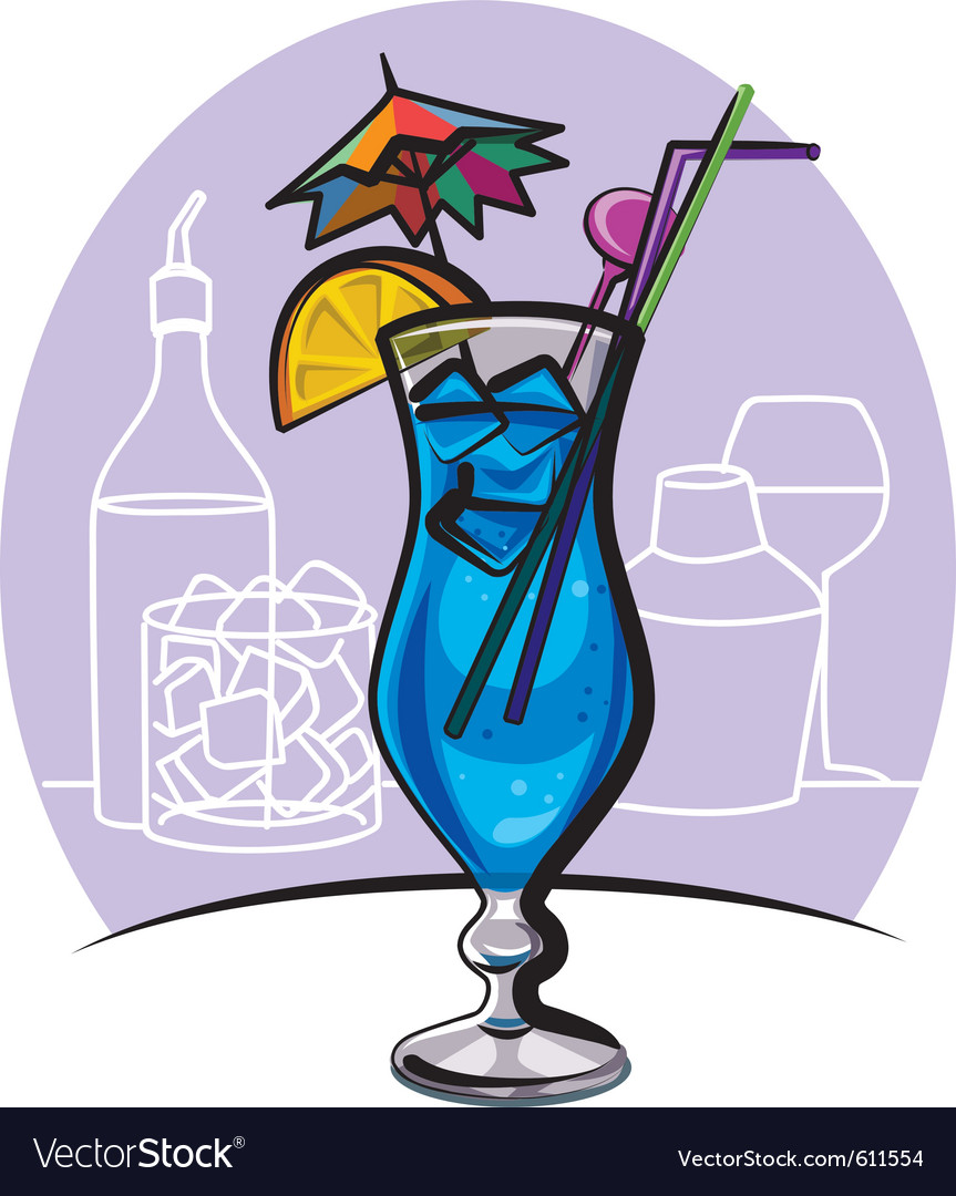 Blue lagoon cocktail vector | Price: 1 Credit (USD $1)