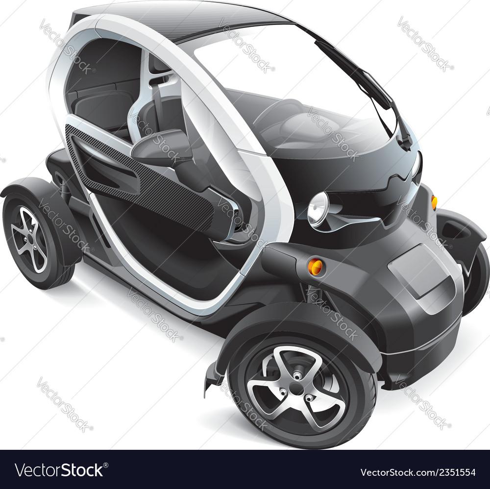 European electric car vector | Price: 3 Credit (USD $3)